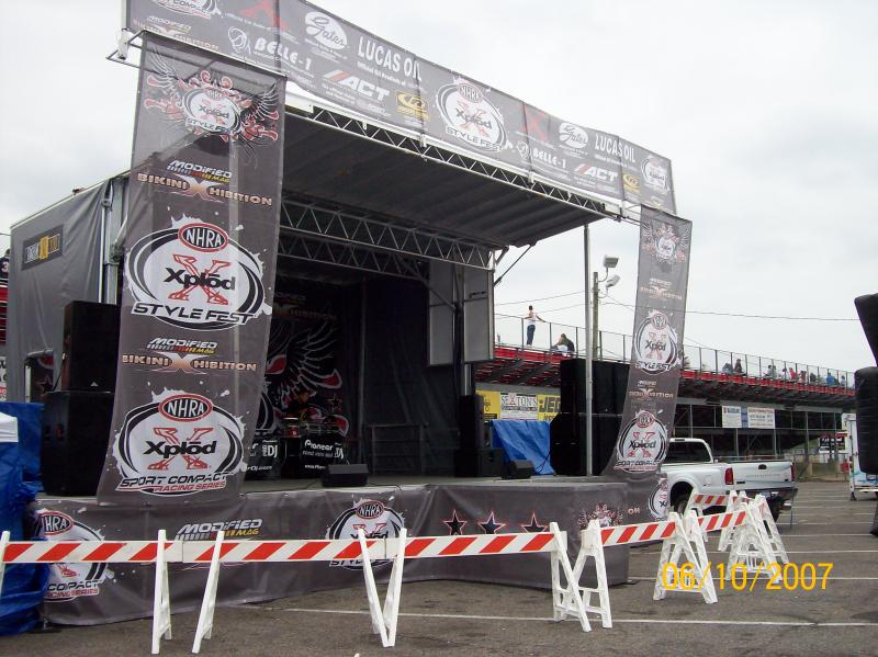 Staging and Sound system rentals for car shows and live performances in NYC